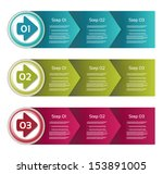 vector paper progress... | Shutterstock .eps vector #153891005