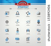 strategy business concept icons ...