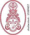 durga indian goddess | Shutterstock .eps vector #15389857
