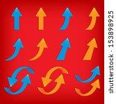 popular arrow sticker set pack... | Shutterstock . vector #153898925