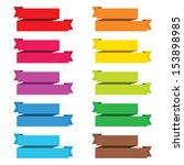 popular color pack ribbon paper ... | Shutterstock . vector #153898985