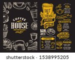 coffee menu template for... | Shutterstock .eps vector #1538995205