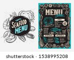 seafood menu template for... | Shutterstock .eps vector #1538995208