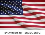 american flag blowing in the... | Shutterstock . vector #153901592