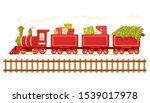christmas train carries a... | Shutterstock .eps vector #1539017978