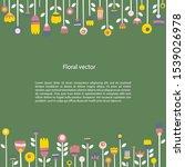 decorative square border in... | Shutterstock .eps vector #1539026978
