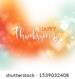 hand drawn happy thanksgiving... | Shutterstock .eps vector #1539032408