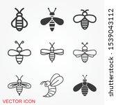 honey bee icon. farm animal...