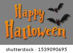 happy halloween background.... | Shutterstock .eps vector #1539090695