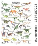 Watercolor Dinosaur Alphabet...