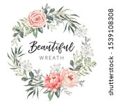 Floral Wreath With Text...