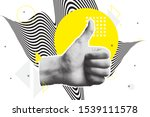bright vector collage of... | Shutterstock .eps vector #1539111578