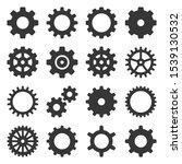 gear icons set on white... | Shutterstock .eps vector #1539130532