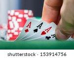 close up of a poker player... | Shutterstock . vector #153914756