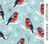 merry christmas pattern with... | Shutterstock .eps vector #1539151148