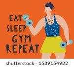 sportsman with motivating...   Shutterstock .eps vector #1539154922