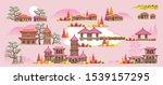 korean style building.... | Shutterstock .eps vector #1539157295