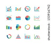 graph icon set | Shutterstock .eps vector #153916742