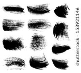 textured strokes drawn a flat... | Shutterstock .eps vector #153921146