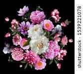 floral decoration. beautiful... | Shutterstock . vector #1539221078