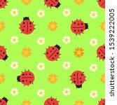 Ladybird Seamless Pattern With...