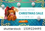 special offer  christmas sale ... | Shutterstock .eps vector #1539224495