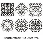 set of knot symbols  geometric... | Shutterstock .eps vector #153925796