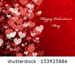 abstract valentine's day... | Shutterstock . vector #153925886