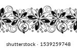 seamless black and white... | Shutterstock .eps vector #1539259748