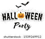 halloween party card. vector... | Shutterstock .eps vector #1539269912