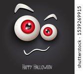 happy halloween background.... | Shutterstock .eps vector #1539269915