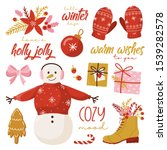 set of graphic elements for... | Shutterstock .eps vector #1539282578