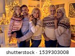 merry christmas and happy new... | Shutterstock . vector #1539303008