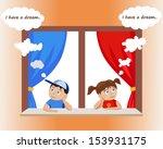 vector boy and girl | Shutterstock .eps vector #153931175