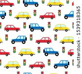 seamless pattern of toy cars...   Shutterstock .eps vector #1539318365