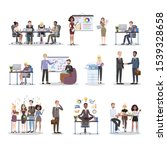 business people work in office... | Shutterstock . vector #1539328658