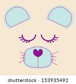 cute cartoon mouse   vector... | Shutterstock .eps vector #153935492