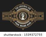 vintage packing label with... | Shutterstock .eps vector #1539372755