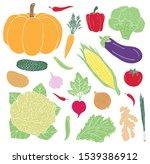 vector hand drawn doodle set... | Shutterstock .eps vector #1539386912