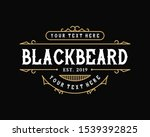 vintage frame template for logo ... | Shutterstock .eps vector #1539392825