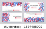 like banner set  bunch of like... | Shutterstock .eps vector #1539408002
