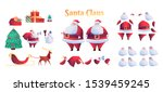 cartoon santa claus animation... | Shutterstock .eps vector #1539459245