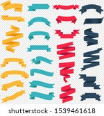 colorful web ribbon big set... | Shutterstock . vector #1539461618