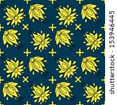 floral seamless pattern.... | Shutterstock .eps vector #153946445