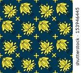 floral seamless pattern.... | Shutterstock .eps vector #153946445