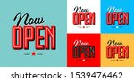 Now Open On Various Background