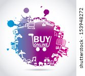 ecommerce design over gray... | Shutterstock .eps vector #153948272