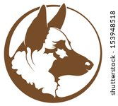 german shepherd illustration | Shutterstock .eps vector #153948518
