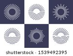 sun logotype collection.... | Shutterstock .eps vector #1539492395