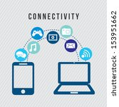 connectivity icons over gray... | Shutterstock .eps vector #153951662